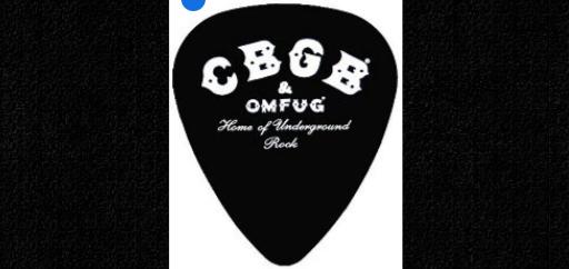cbgb amp omfug logo guitar pick pickbay