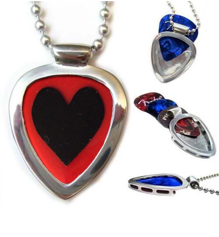 Pickbay guitar pick holder pendant set black heart gripper pick pickbay guitar pick holder pendant set black heart gripper pick aloadofball Gallery