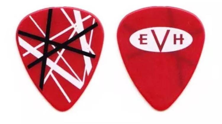 eddie van halen red frankenstrat guitar pick evh 2007 2008 tour pickbay. Black Bedroom Furniture Sets. Home Design Ideas