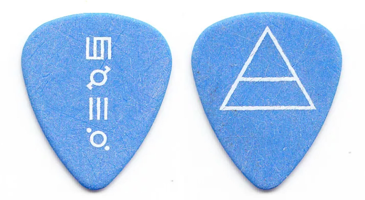 30 Seconds To Mars Guitar Pick Jared Leto 2011 Tour Pickbay